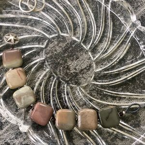 Jewelry - Multi-colored Square Stone Beaded Bracelet